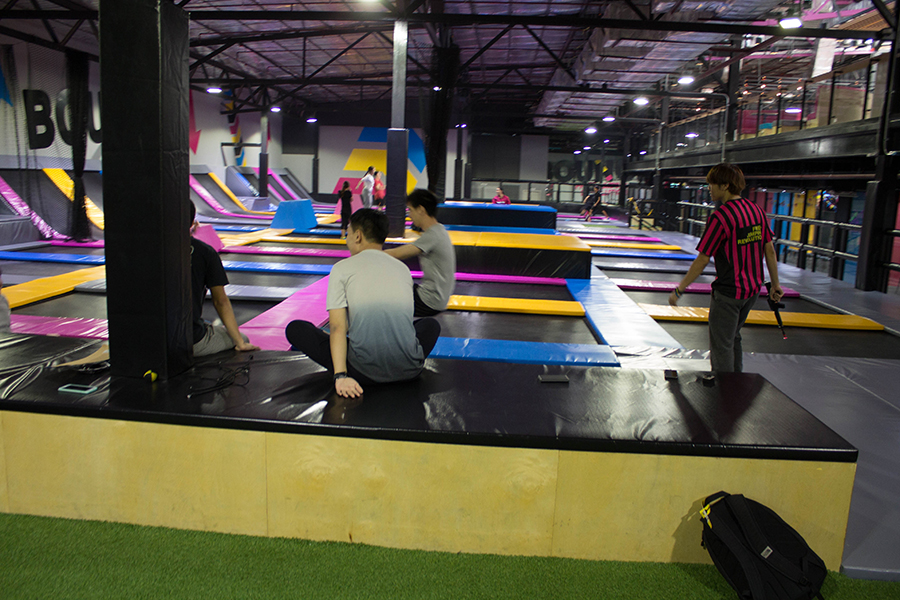 Bounce Thailand trampoline park in Ratchada, Bangkok