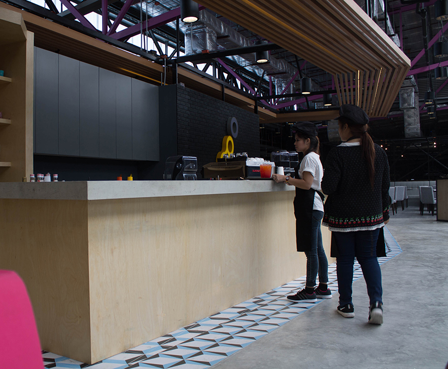 The cafe and restuatrant at Bounce Thailand in Bangkok