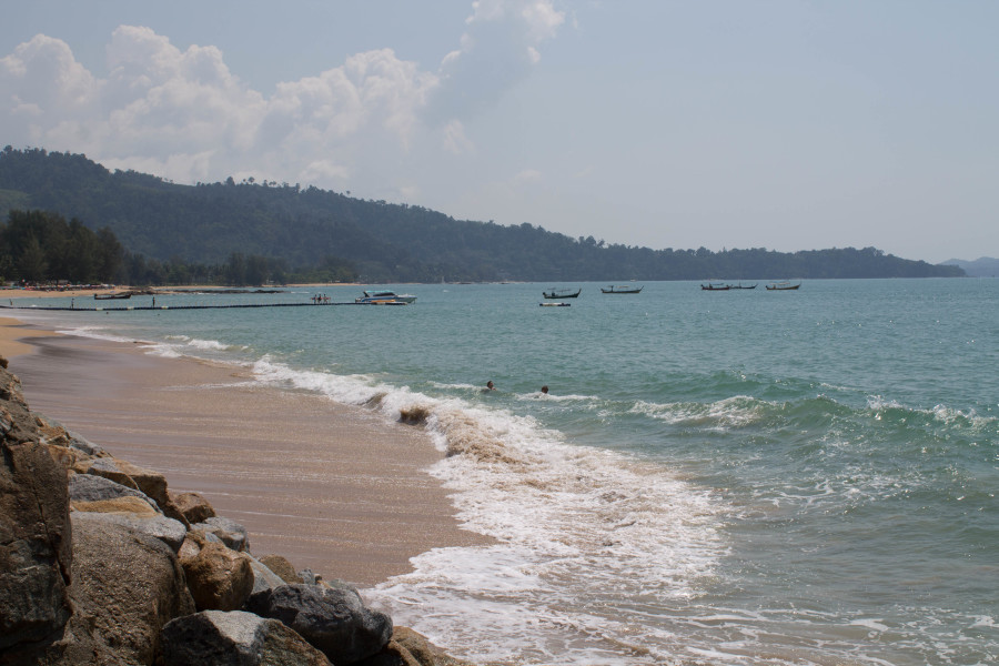 Bang Niang beach in Khao Lak, Thailand