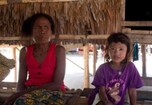 A mother and daughter from the Moken tribe on the Surin Islands