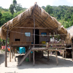 A house of the Moken tribe on the Surin Islands