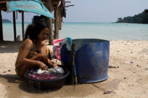 A woman fom the Moken tribe on the Surin Islands