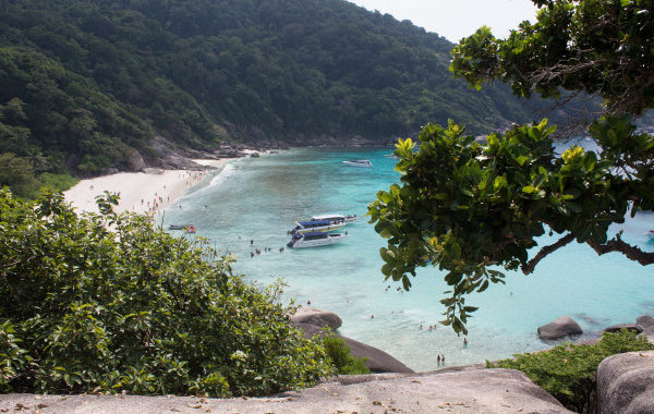 The view over Donald Duck bay in Similan Island during a tour