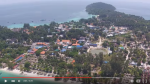 Aerial drone view of Koh Lipe