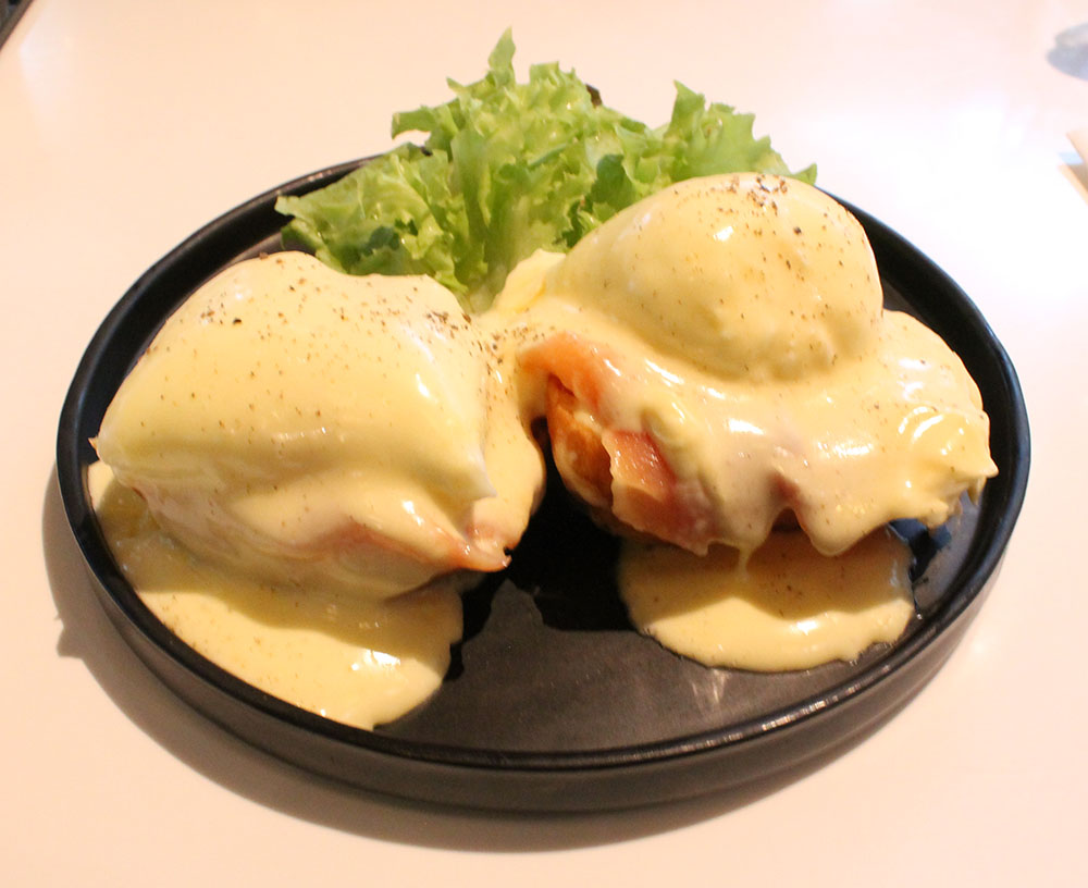 The eggs benedict and salmon at D'Ark, which was tasty but overpriced