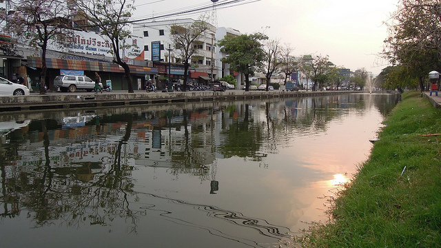 The moat around the historical city centre of Chiang Mai, Thailand, which has been voted the top city in Asia to visit, and the second best in the world  (Picture: David McKelvey / Flickr )
