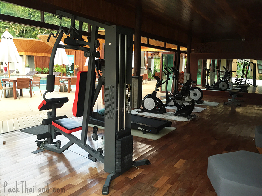 The gym at Bundhaya Villas Koh Lipe