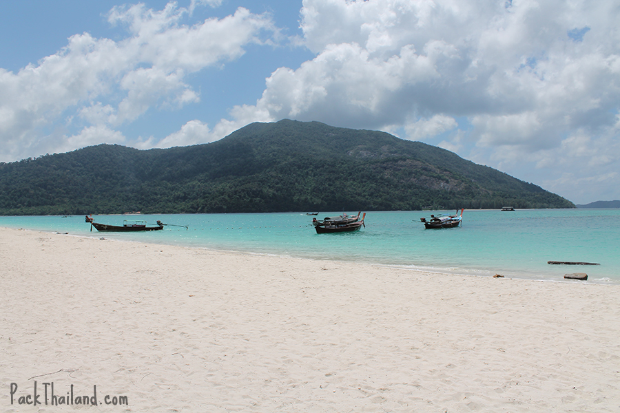 The view of Koh Adang from Koh Lipe Sunrise Beach