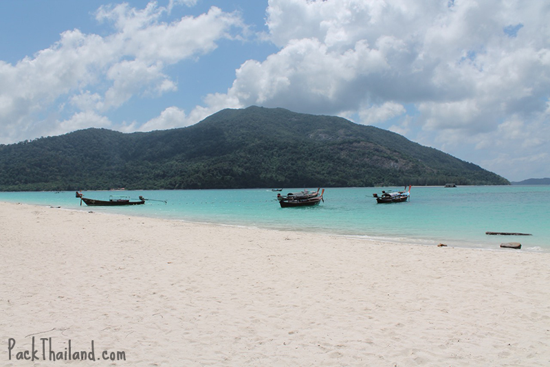 The northern tip of Sunrise beach, Koh Lipe, looking to Koh Adang