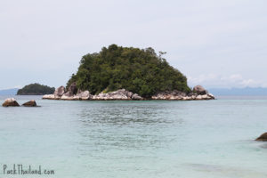 The view of Koh Uhsen from the southern tip of Sunrise beach