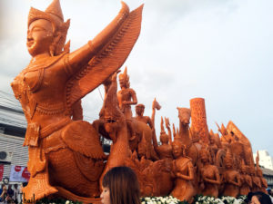 The candle festival in Ubon Ratchathani