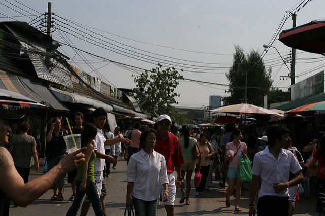 Window shopping at Chatuchak Weekend Market is a free thing to do in Bangkok