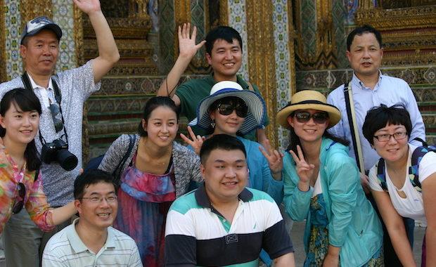The number of Chinese tourists in Thailand is expected to hit 10.8million in 2017