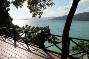 The view from cliffs on Sunset Beach, Koh Lipe, looking out over the sea