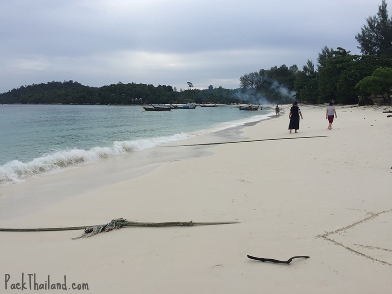 Pattaya beach , Koh Lipe, on quite an overcast day
