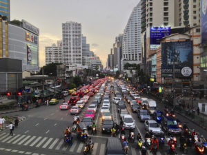 Traffic is one major Thailand culture shock