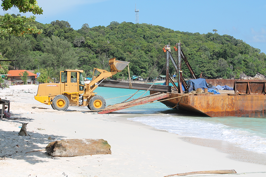A digger on the beach in Koh Lipe