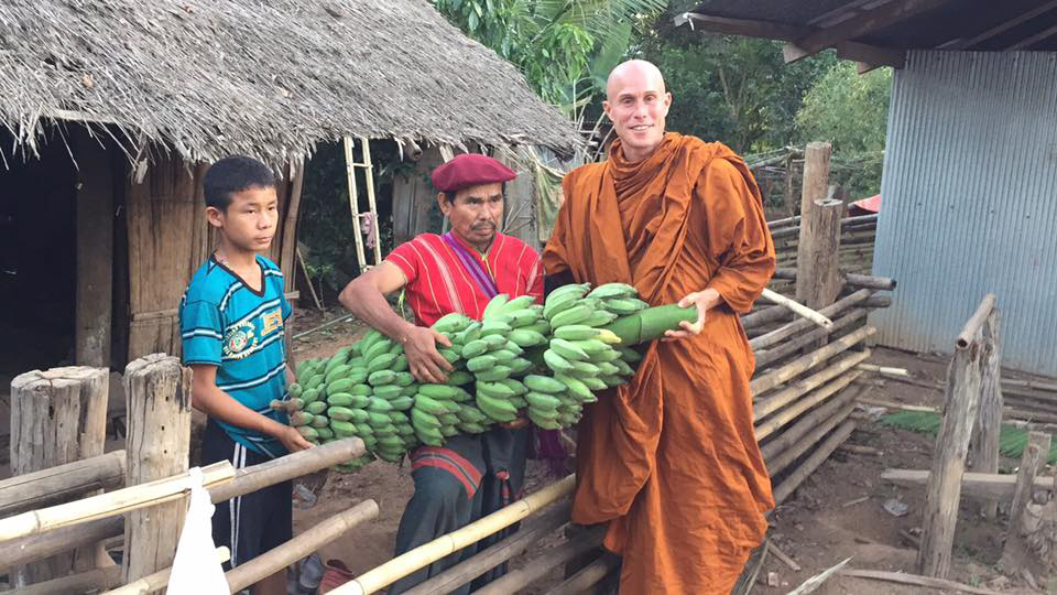 Julian with local hill tribe people